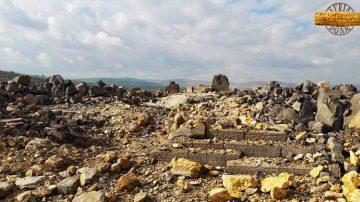 معبد عين دارة بعد قصفه من قبل القوات التركية